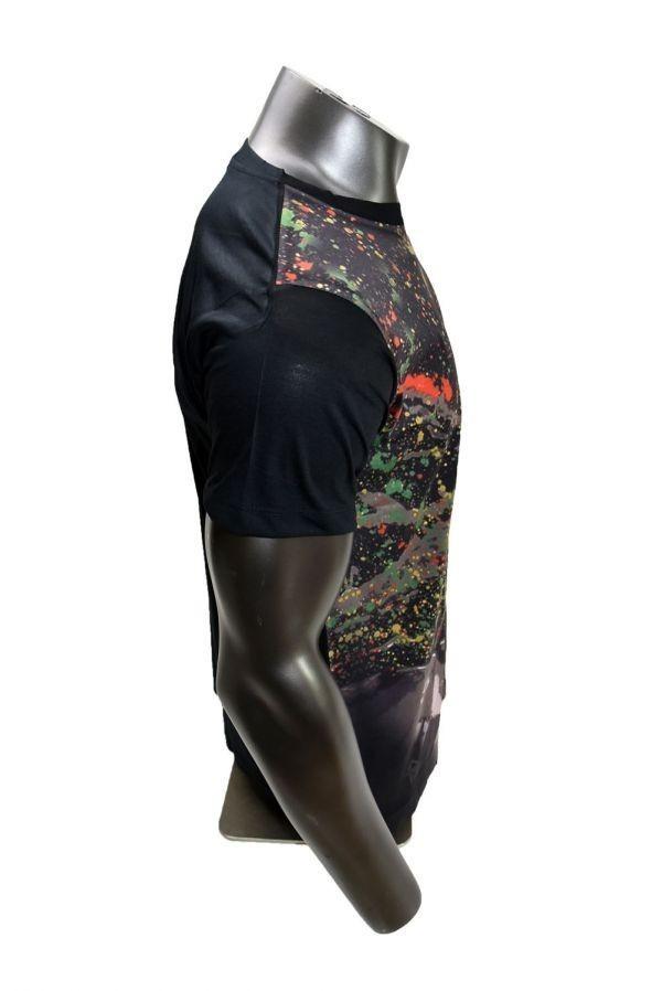 ■メンズ ボブ・マーリー(Bob Marley)レゲエTシャツ Lサイズ 黒/ブラック カラフル プリント 半袖 丸首■T-shirt_画像4