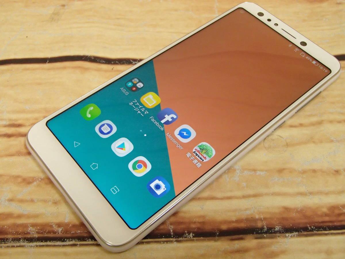 ○ASUS ZenFone 5Q (ZC600KL)ZC600KL-WH64S4 ムーンライトホワイト SIMフリー 訳有○