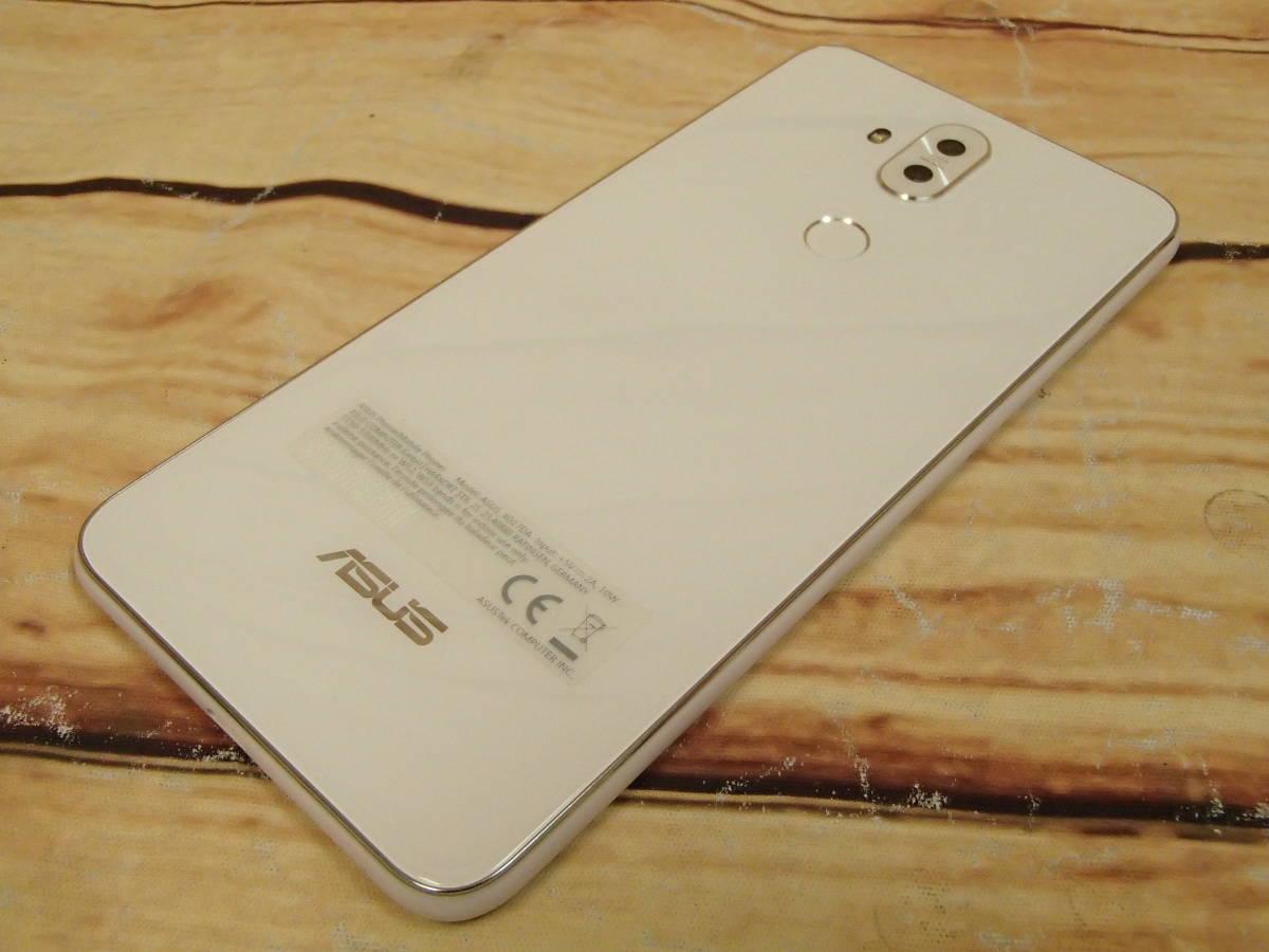 ○ASUS ZenFone 5Q (ZC600KL)ZC600KL-WH64S4 ムーンライトホワイト SIMフリー 訳有○_画像6