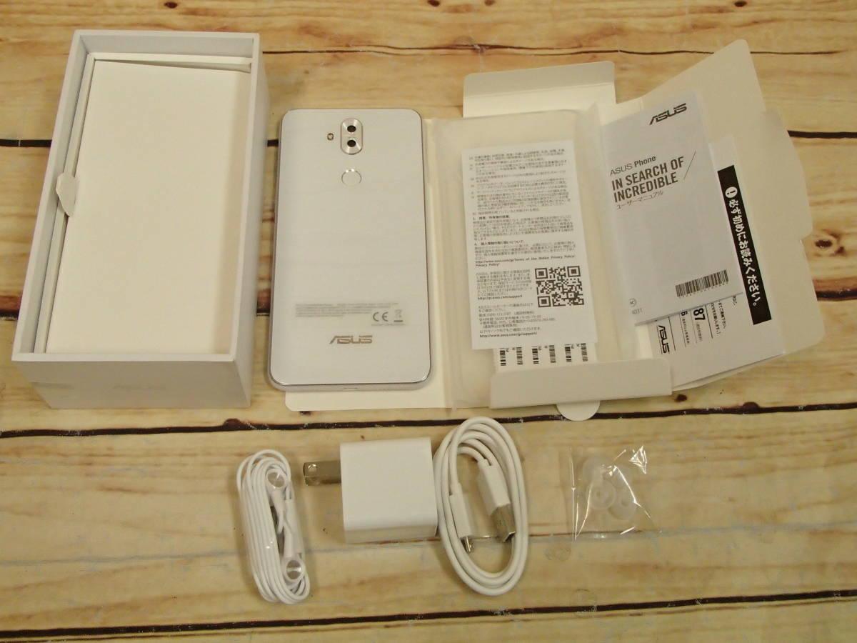 ○ASUS ZenFone 5Q (ZC600KL)ZC600KL-WH64S4 ムーンライトホワイト SIMフリー 訳有○_画像7