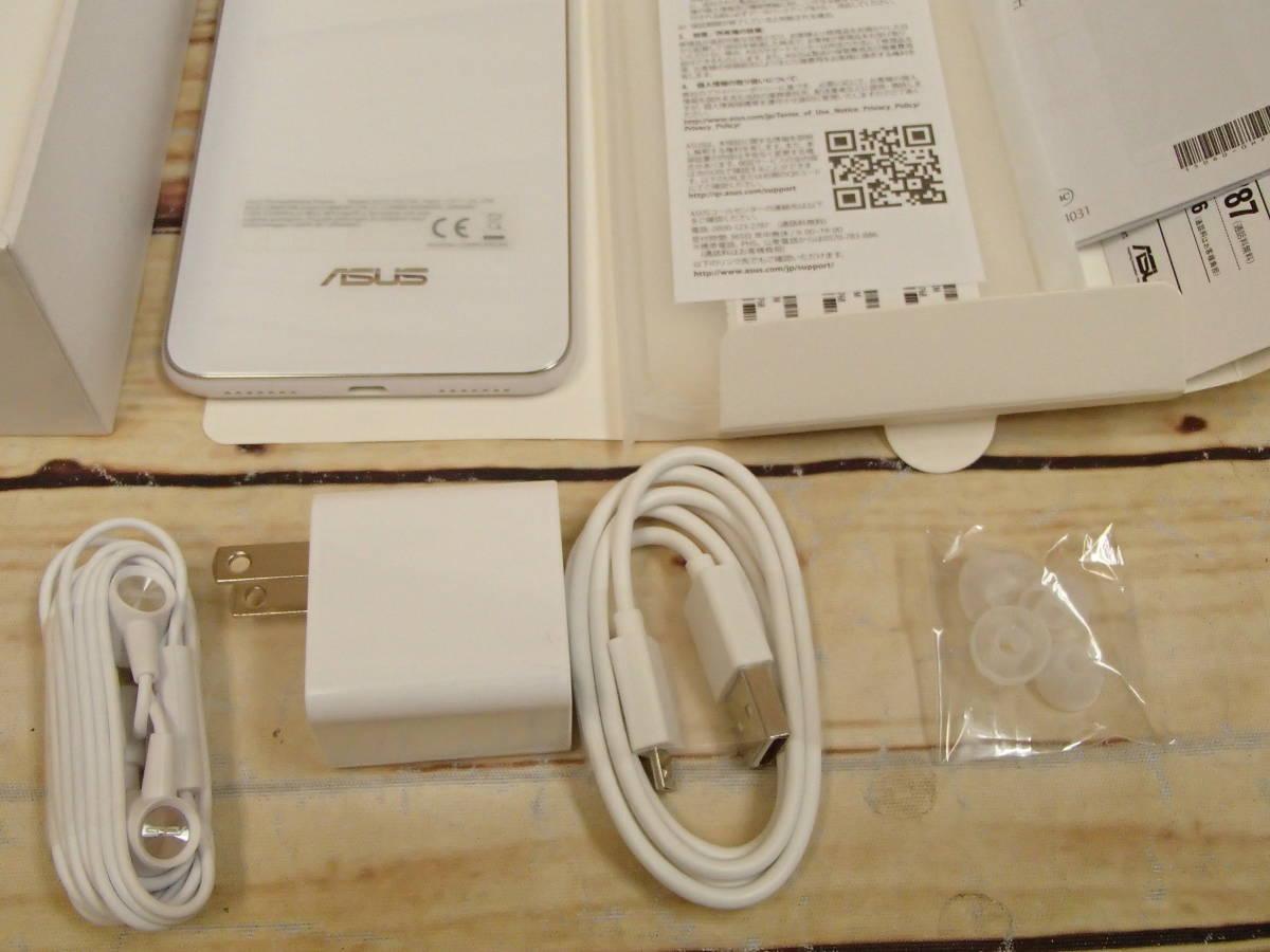 ○ASUS ZenFone 5Q (ZC600KL)ZC600KL-WH64S4 ムーンライトホワイト SIMフリー 訳有○_画像8