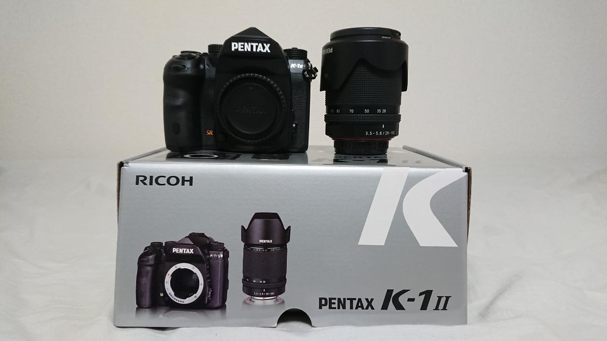☆PENTAX K-1 Mark II 28-105 WR レンズキット 新品同様 極上美品 ペンタックス K-1Ⅱ☆