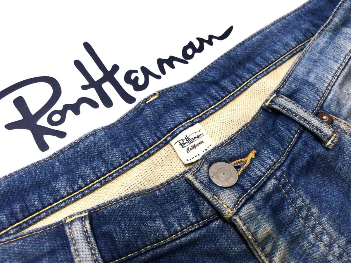 """【着心地抜群】ロンハーマン RHC """" ビンテージ加工 """" スウェットデニムパンツ M インディゴ / RonHerman California 国内正規品_画像6"""