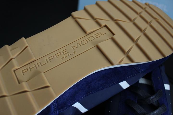 【PHILIPPE MODEL フィリップモデル】Toujours / トゥジュールモデル 人気おしゃれカラーネイビー ラグジュアリースニーカー EU40_画像10