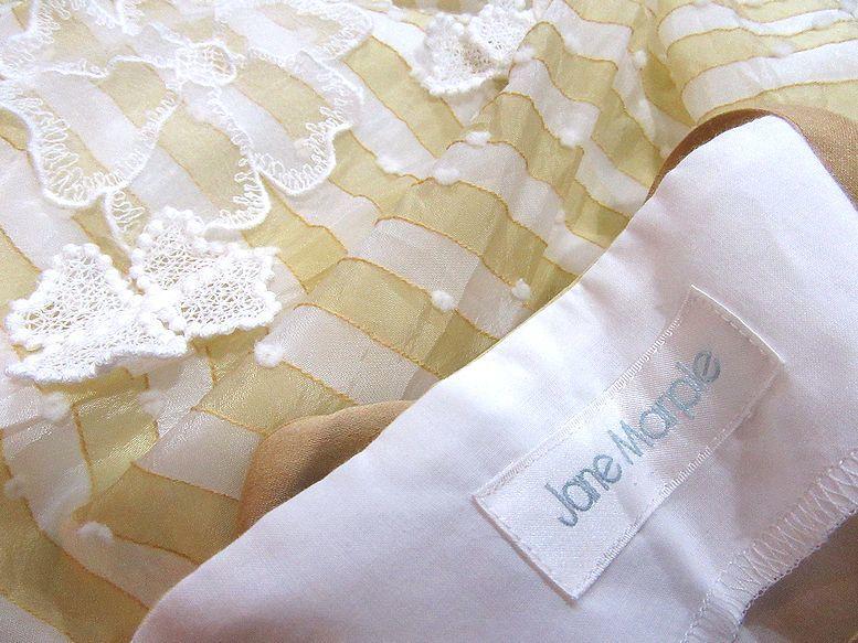 Jane Marple イエローボーダーお花付ドレス ジャンパースカート ジェーンマープル_画像3