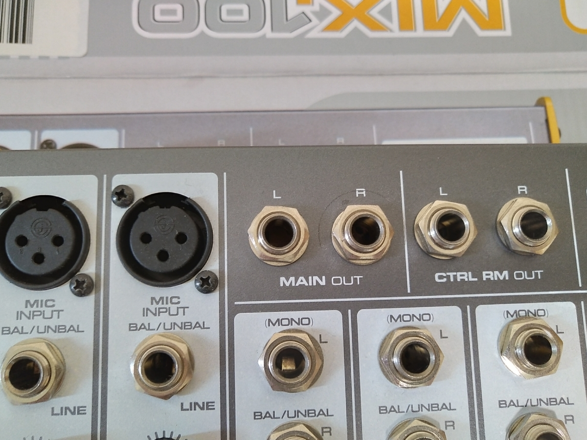 TAPCO MIX100 10ch小型ミキサー_画像3