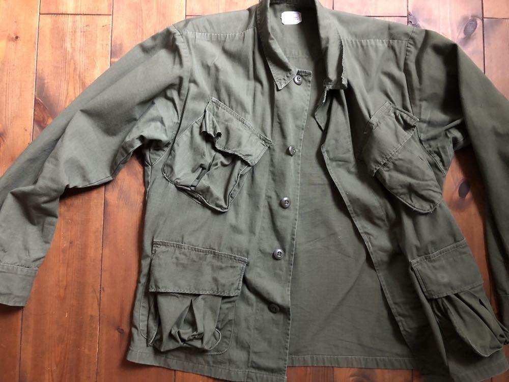 アメリカ軍 ジャングルファティーグジャケット ショート リメイク SMALL ミリタリー ビンテージ ベトナム戦争 古着 _画像4