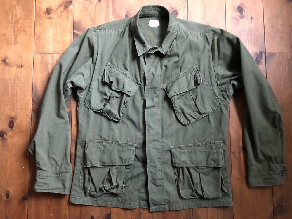 アメリカ軍 ジャングルファティーグジャケット ショート リメイク SMALL ミリタリー ビンテージ ベトナム戦争 古着 _画像2