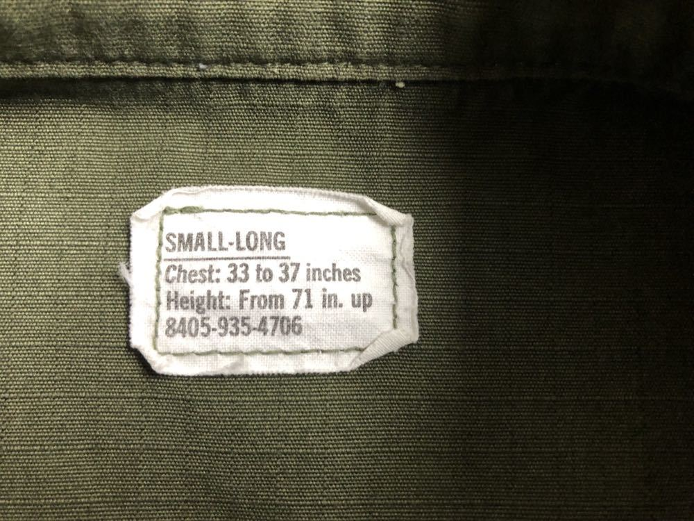 アメリカ軍 ジャングルファティーグジャケット ショート リメイク SMALL ミリタリー ビンテージ ベトナム戦争 古着 _画像6