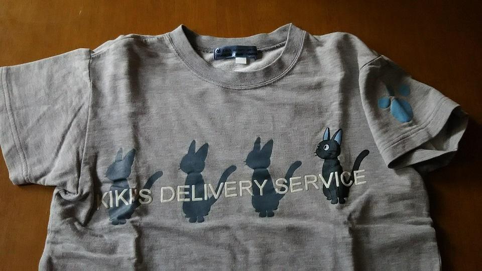 年代物 魔女の宅急便 黒猫のジジ トレーナー風シャツ 130CM スタジオジブリ _画像2