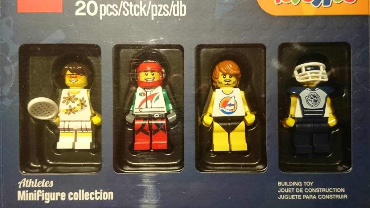 即決 レゴ LEGO トイザらス限定 5004423 ミニフィグ 4体 Athletes セット3 箱入り未使用保管品 送料無料:定形外_画像2