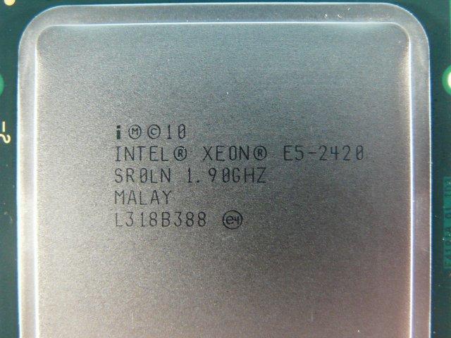 1GHB // Intel Xeon E5-2420 1.90GHz SR0LN Sandy Bridge-EN C2 Socket1356(LGA) MALAY // NEC Express5800/T120d 取外 // (同ロット)在庫6_画像2