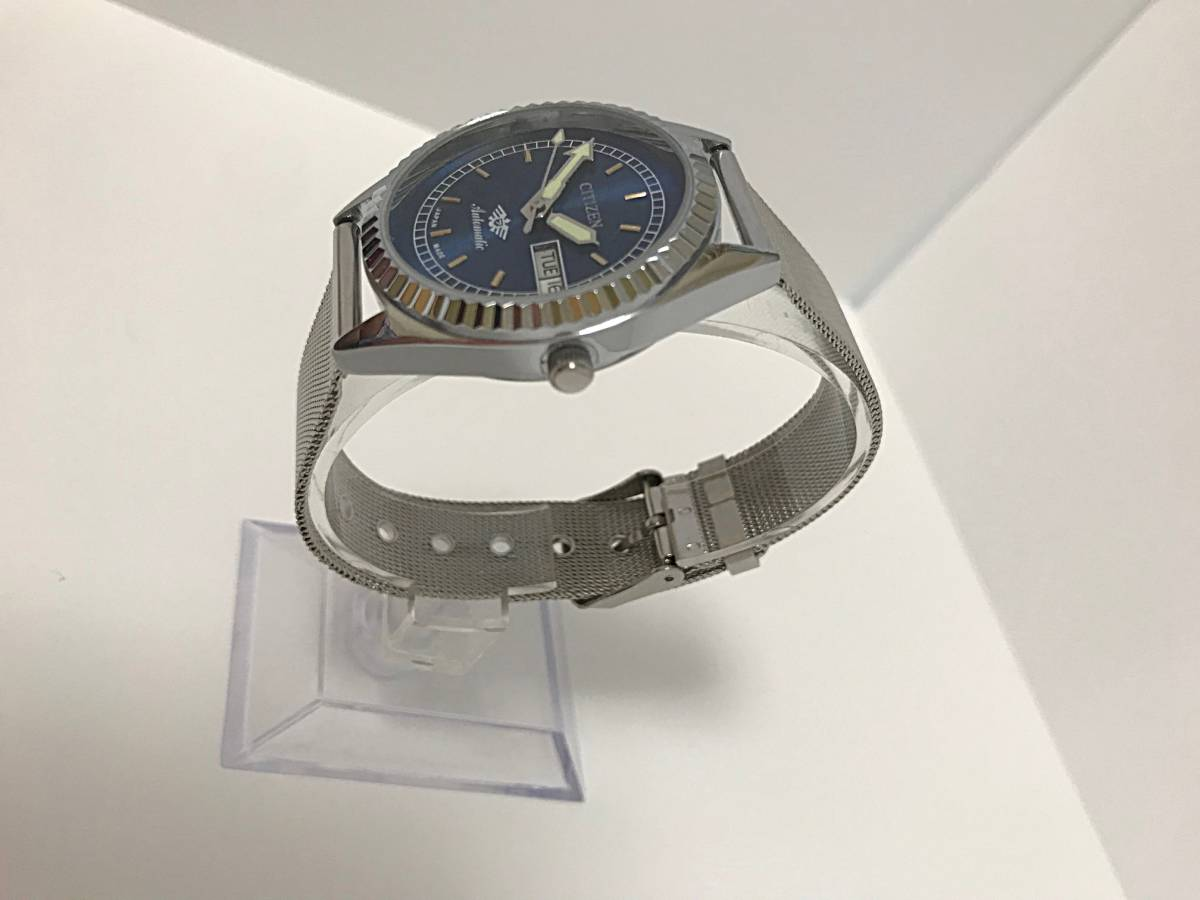 ★ CITIZEN シチズン 1960~1969製造? 機械式自動巻き 腕時計 文字盤ブルー_画像2