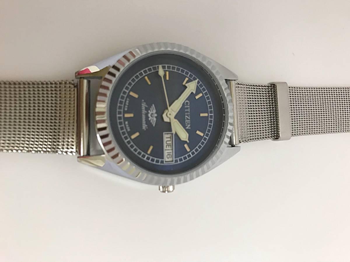 ★ CITIZEN シチズン 1960~1969製造? 機械式自動巻き 腕時計 文字盤ブルー_画像3