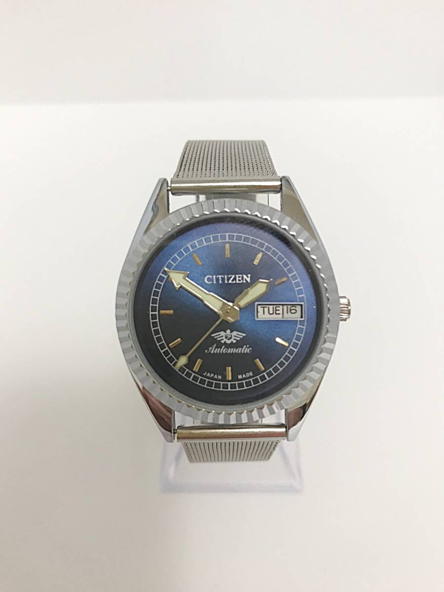 ★ CITIZEN シチズン 1960~1969製造? 機械式自動巻き 腕時計 文字盤ブルー
