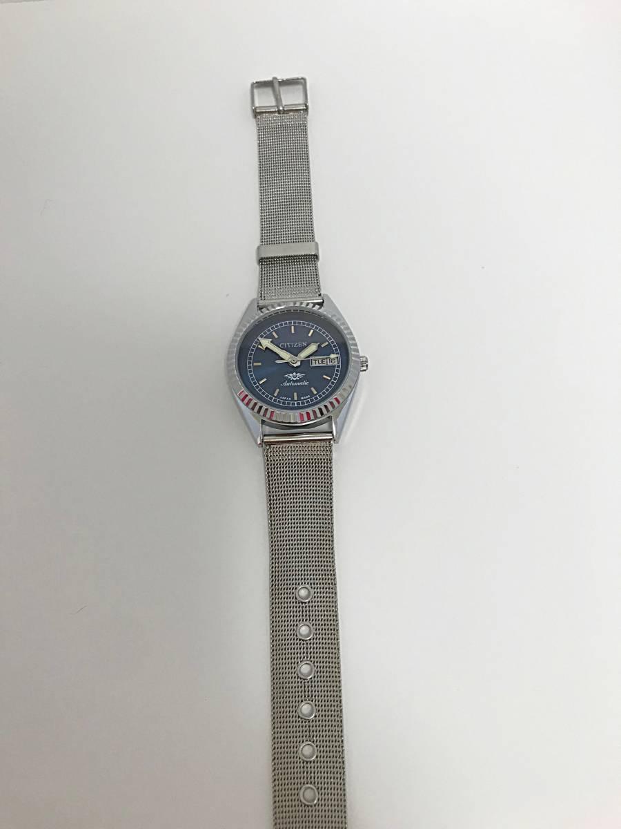 ★ CITIZEN シチズン 1960~1969製造? 機械式自動巻き 腕時計 文字盤ブルー_画像5
