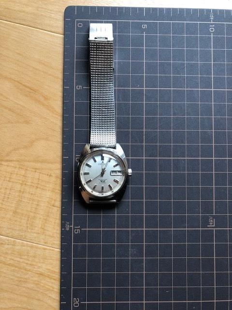 KK678 程度良好 稀少 レア ヴィンテージ CITIZEN/シチズン SEVEN STAR V2 21石 4-720644 デイデイト シルバー文字盤 機械式 メンズ 腕時計_画像2