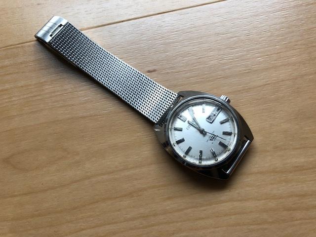KK678 程度良好 稀少 レア ヴィンテージ CITIZEN/シチズン SEVEN STAR V2 21石 4-720644 デイデイト シルバー文字盤 機械式 メンズ 腕時計_画像1