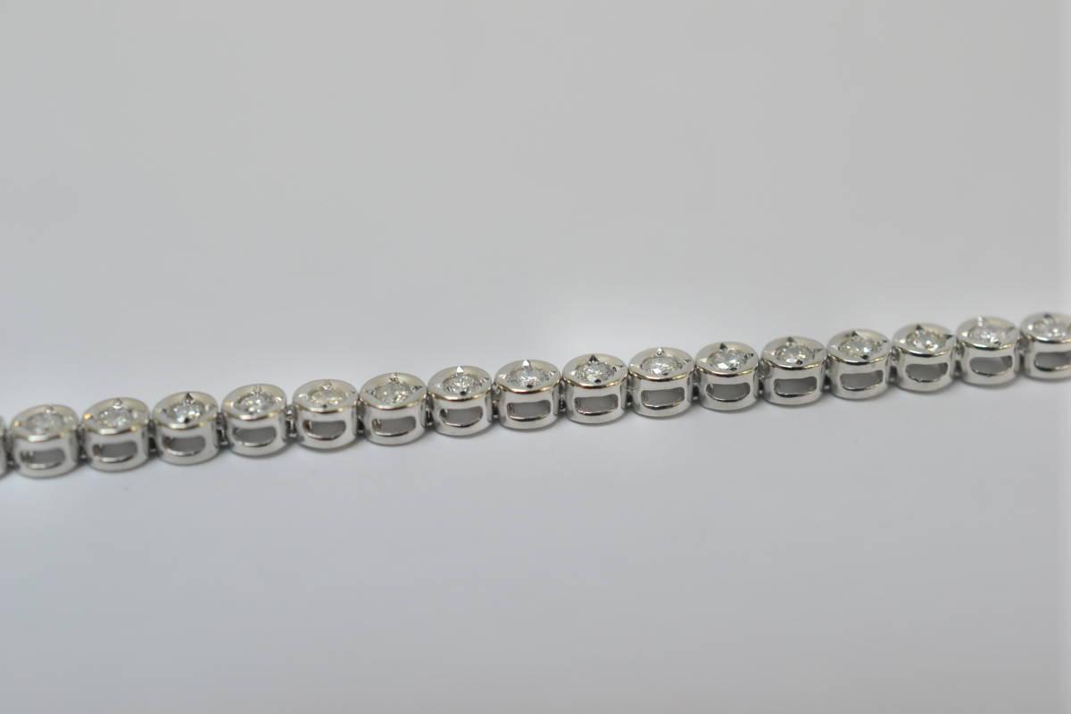 ☆極美品 Pt850 ダイアモンド テニスブレスレット D1.02ct 8.8g☆_画像5