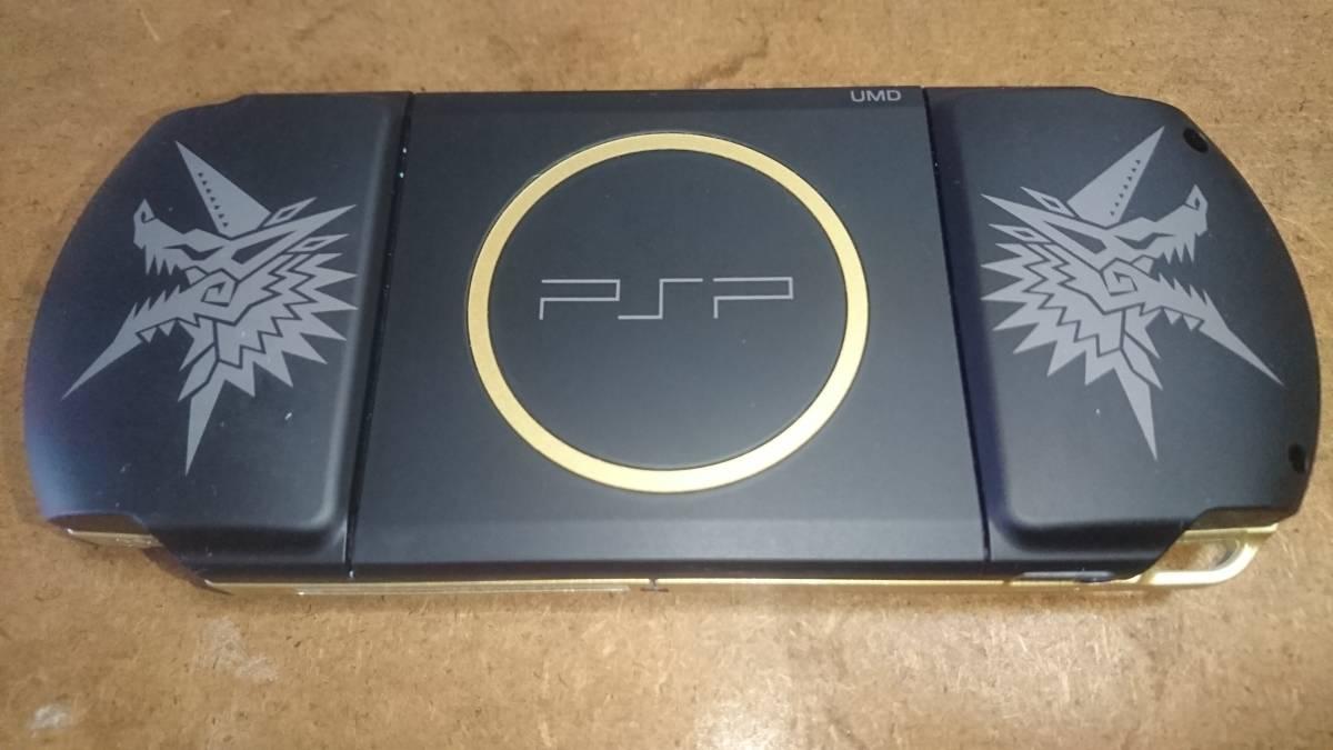 PSP本体「プレイステーション・ポータブル」 モンスターハンターポータブル 3rd ハンターズモデル (PSP-3000MHB)_画像3
