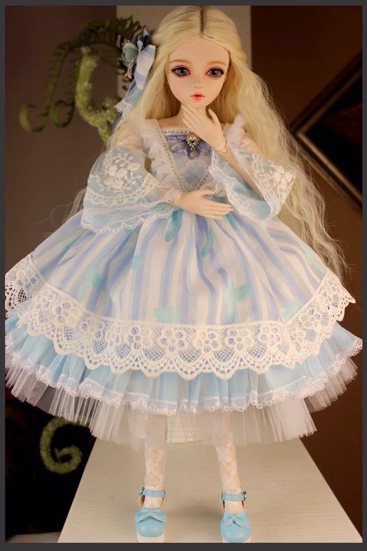 新品 BJDドール 球体関節人形 1/3 60cm 女 人形本体 ヘッド+ボディ+眼球+服装+ウィッグ+メイク フルセット 葵 中国製_画像4