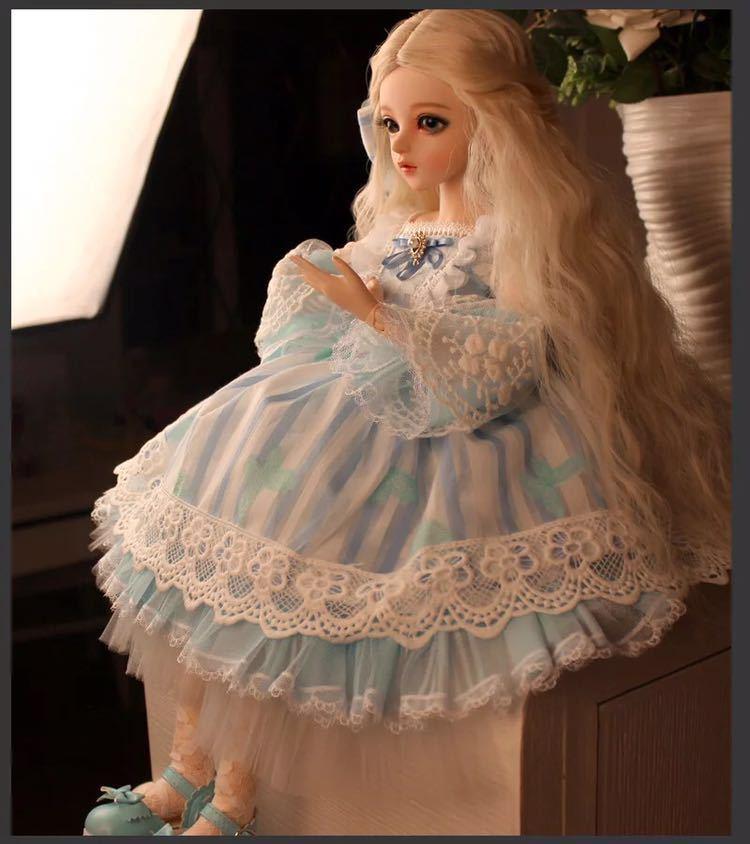 新品 BJDドール 球体関節人形 1/3 60cm 女 人形本体 ヘッド+ボディ+眼球+服装+ウィッグ+メイク フルセット 葵 中国製_画像3