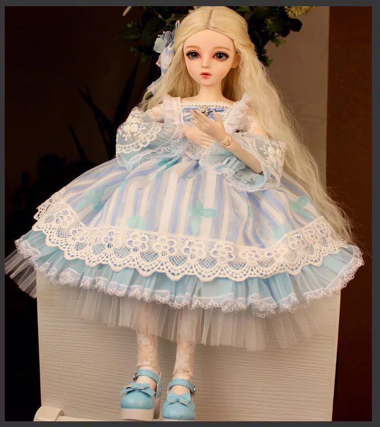 新品 BJDドール 球体関節人形 1/3 60cm 女 人形本体 ヘッド+ボディ+眼球+服装+ウィッグ+メイク フルセット 葵 中国製_画像5