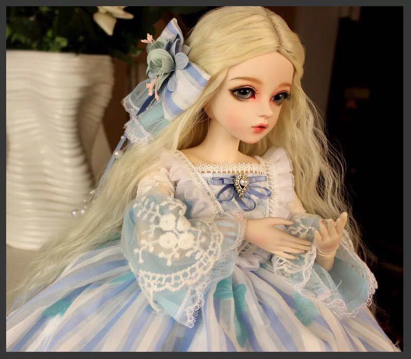 新品 BJDドール 球体関節人形 1/3 60cm 女 人形本体 ヘッド+ボディ+眼球+服装+ウィッグ+メイク フルセット 葵 中国製_画像6