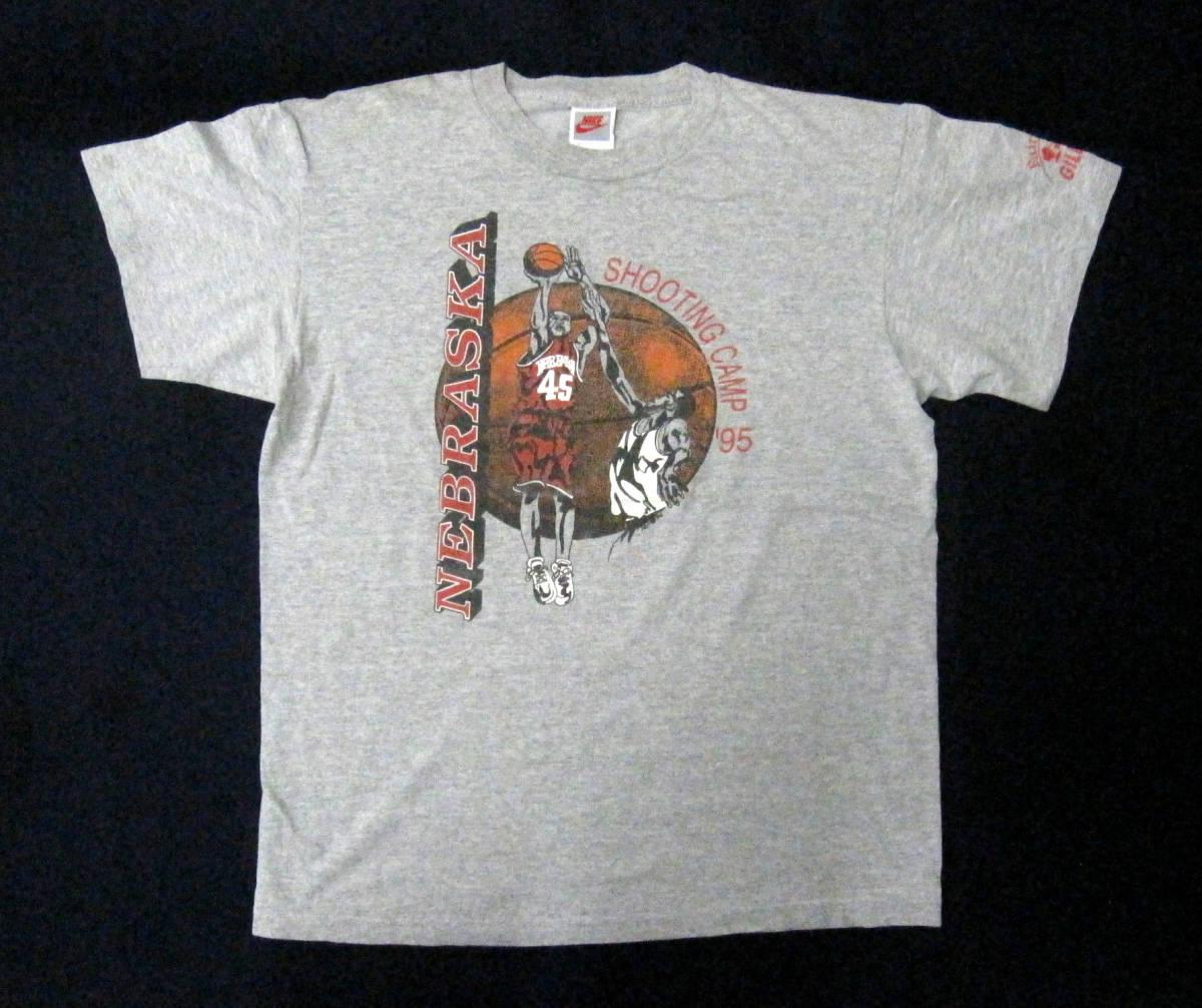 希少・90s Vintage USA製 銀タグ NIKE ナイキ 前後プリント Tシャツ sizeL ★ 良好美品 / ビンテージ 紺タグ オレンジタグ 風車_画像5