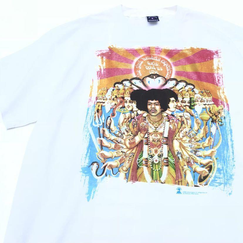 ■激レア デッドストック■2000s JIMI HENDRIX 千手観音 Tシャツ L 白 ジミヘンドリックス ジミヘン バンドTシャツ ビンテージ 90s_画像3