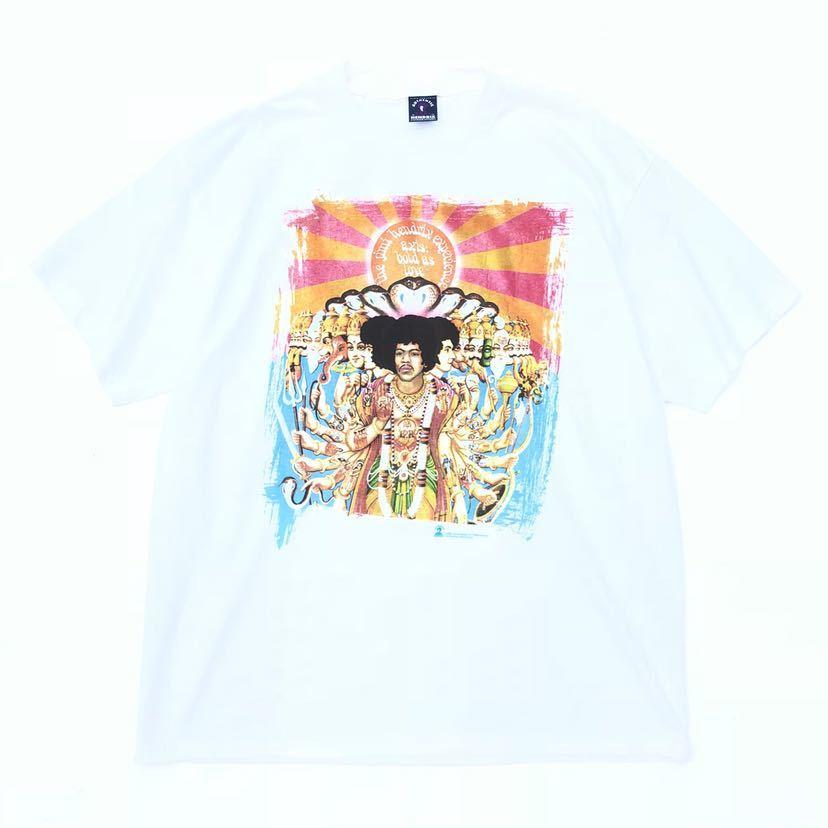 ■激レア デッドストック■2000s JIMI HENDRIX 千手観音 Tシャツ L 白 ジミヘンドリックス ジミヘン バンドTシャツ ビンテージ 90s_画像1