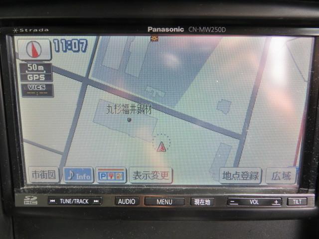 N187-8 プジョーOP/パナソニック CN-MW250D メモリ 4×4地デジ内臓ナビ 2010年_画像2
