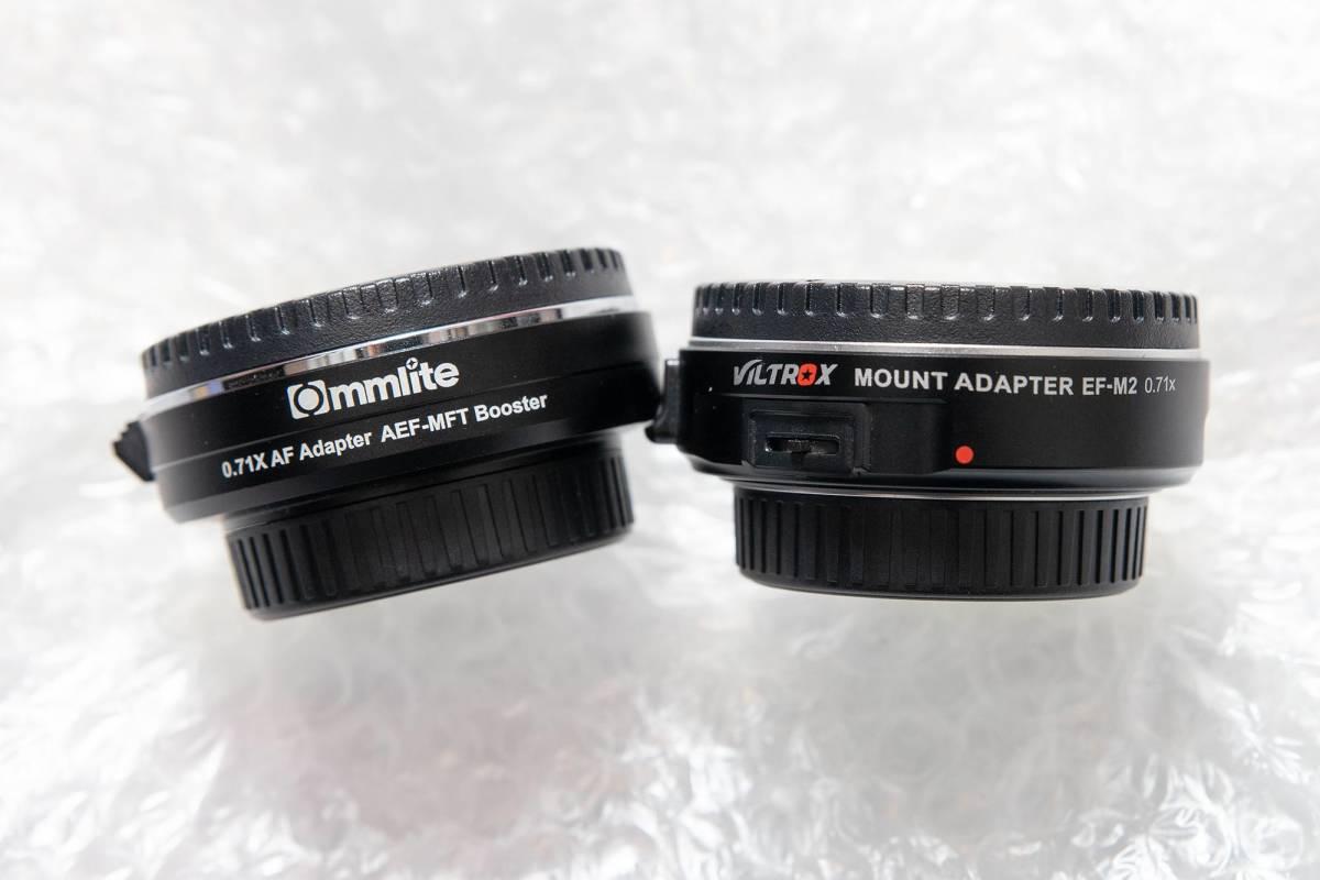 Commlite CM-AEF-MFT Booster EF-マイクロフォーサーズスピードブースター0.71X + Viltrox EF-M2_画像3