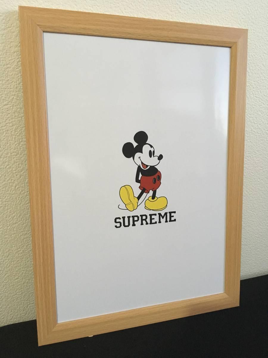 1(送料198円)supreme シュプリーム Disney ミッキー インテリア オマージュ パロディ ポップアート ポスター A4 額付き_画像1