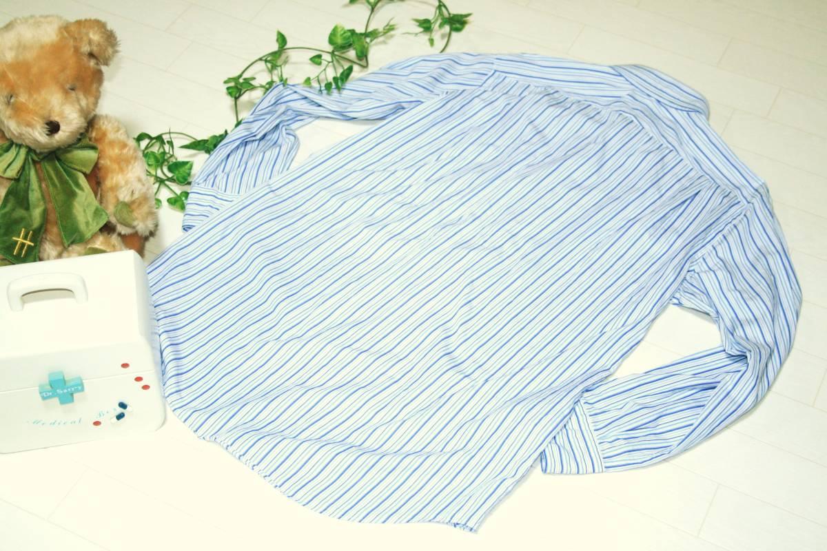#100円スタート★バーバリー*BURBERRY LONDON ストライプ柄 ボタンダウン 長袖Yシャツ(40-82)三陽商会 日本製_画像2
