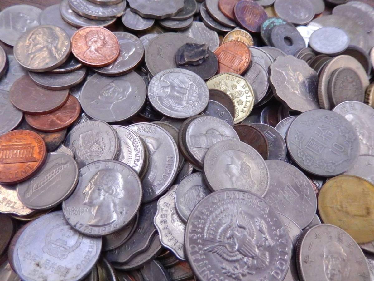 1円~海外コイン 硬貨 貨幣 まとめて 総重量約2701g 世界のお金 外国銭 海外硬貨_画像3