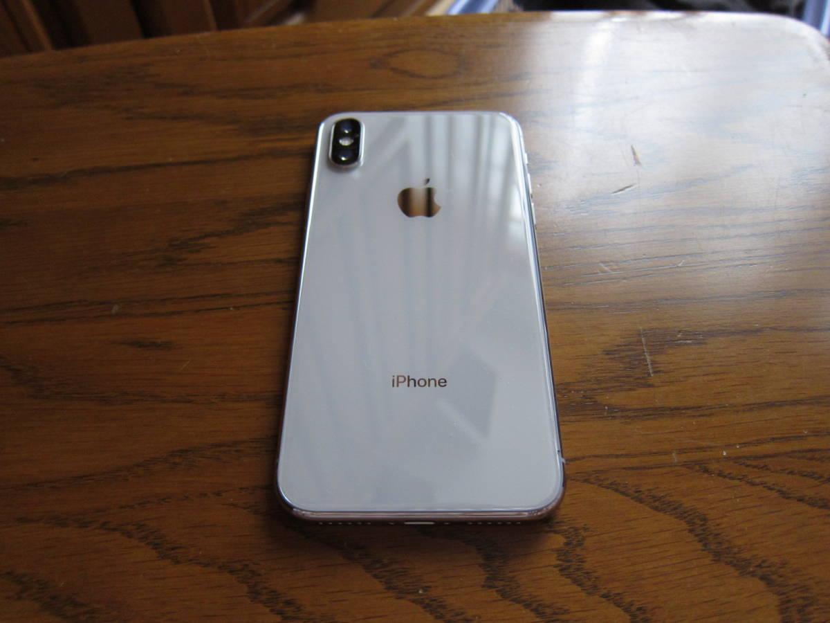 美品 SIMフリー iPhoneX 64GB シルバー 元箱付 付属品未使用 SIMロック解除済み _画像2