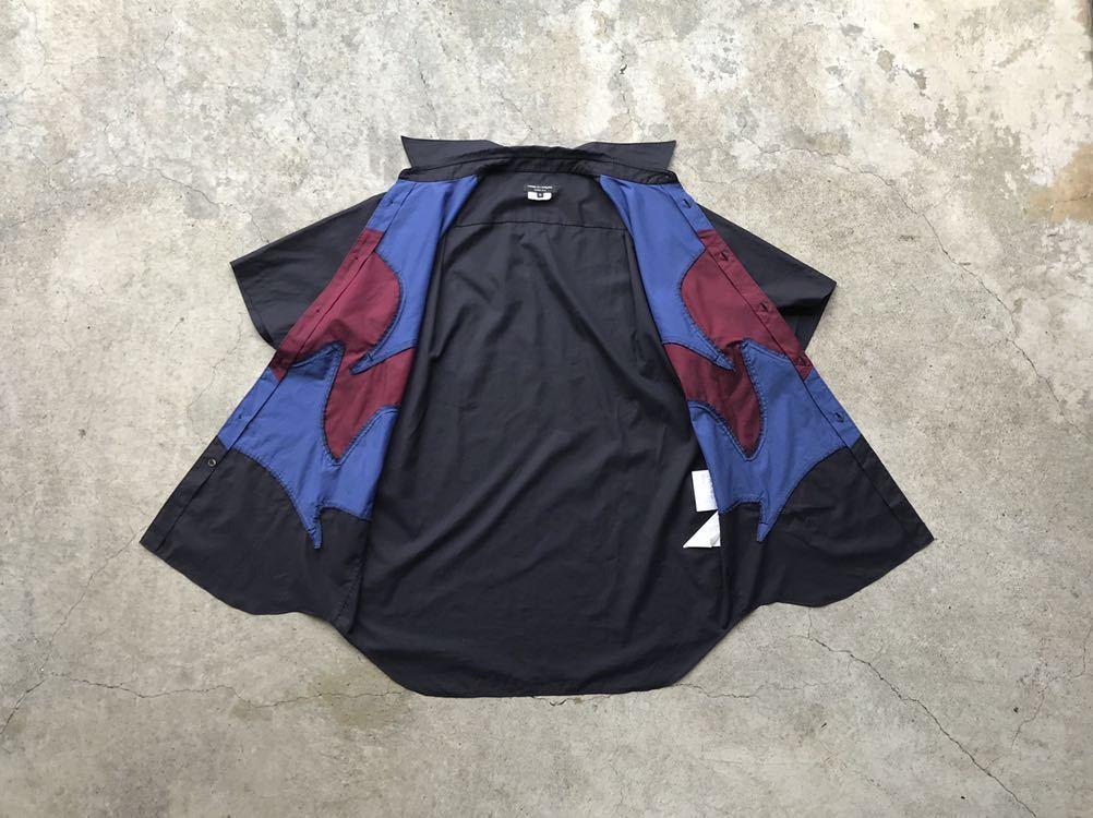 美品 AD2005 COMME des GARCONS HOMME PLUS 切り替えコットンシャツ Mサイズ コムデギャルソン メンズ 半袖_画像4