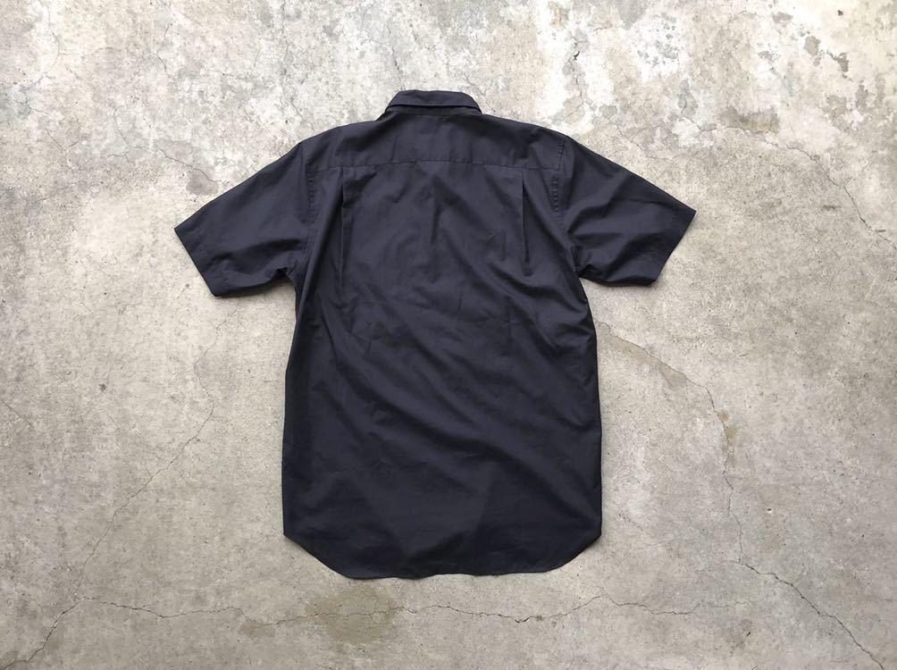 美品 AD2005 COMME des GARCONS HOMME PLUS 切り替えコットンシャツ Mサイズ コムデギャルソン メンズ 半袖_画像2