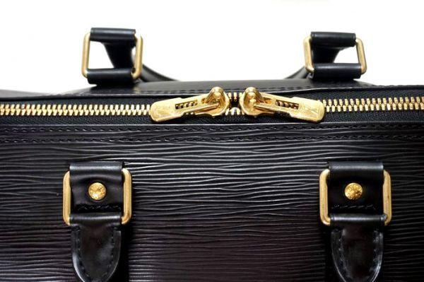 【極美品 袋有】ルイヴィトン Louis Vuitton エピ キーポル45 ボストンバッグ 旅行バッグ カバン 鞄 ノワール 黒 M59152_画像7
