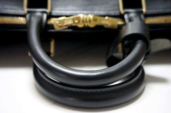 【極美品 袋有】ルイヴィトン Louis Vuitton エピ キーポル45 ボストンバッグ 旅行バッグ カバン 鞄 ノワール 黒 M59152_画像8