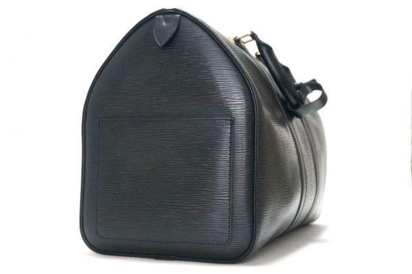 【極美品 袋有】ルイヴィトン Louis Vuitton エピ キーポル45 ボストンバッグ 旅行バッグ カバン 鞄 ノワール 黒 M59152_画像5