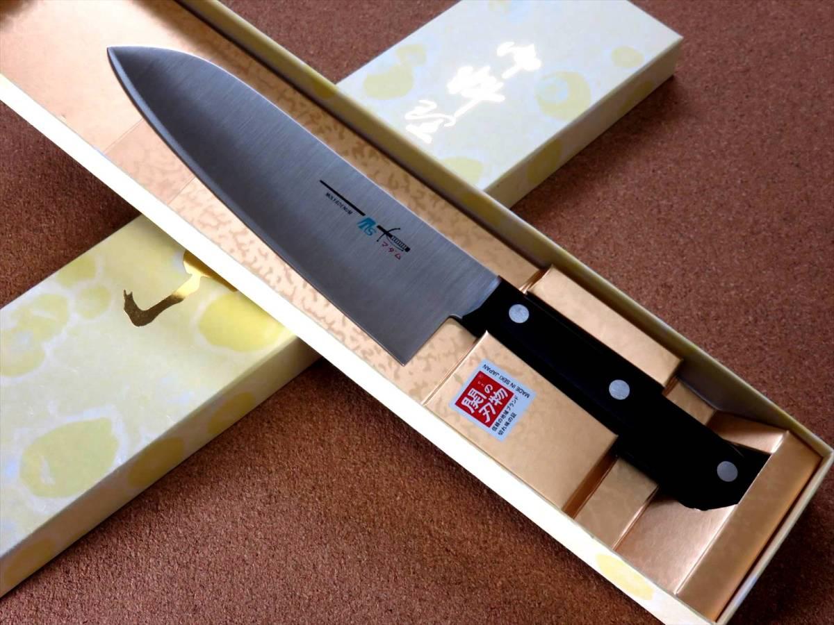 関の刃物 三徳包丁 17cm (170mm) TSマダム AUS-8 クロムモリブデン ステンレス 家庭用 肉 魚 野菜切り 両刃万能包丁 文化包丁 日本製_画像10