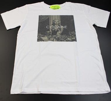 新品【マリリンモンロー×コカイン】COCAINE パロディ Tシャツ Lサイズ WHITE 白 ホワイト