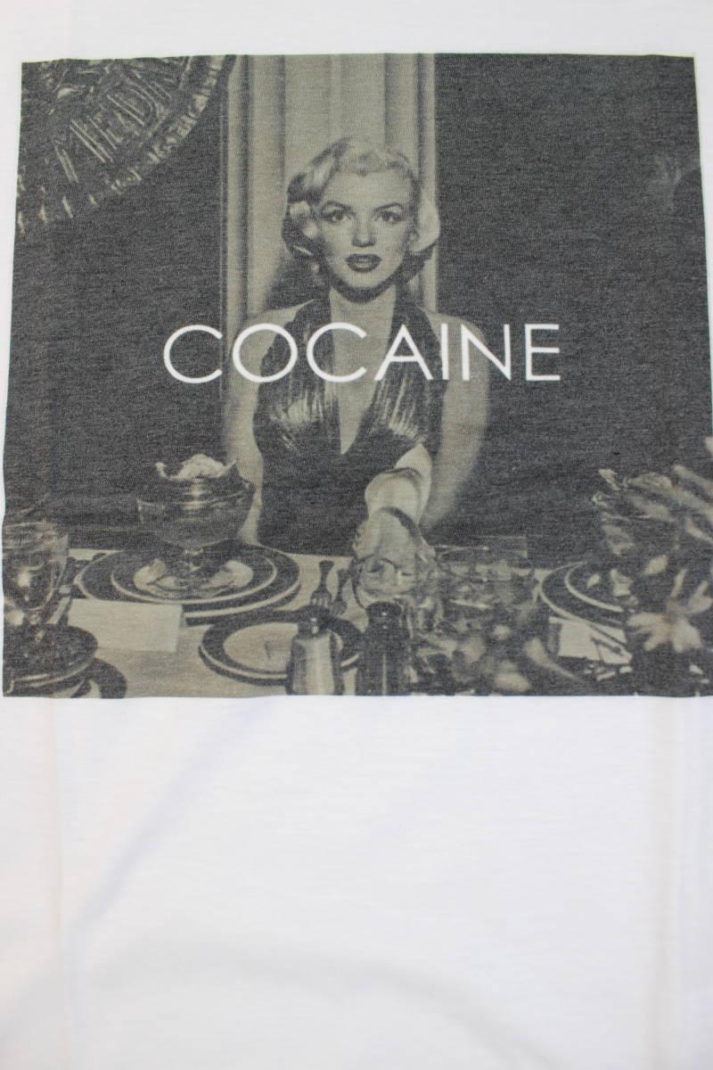 新品【マリリンモンロー×コカイン】COCAINE パロディ Tシャツ Lサイズ WHITE 白 ホワイト_画像2