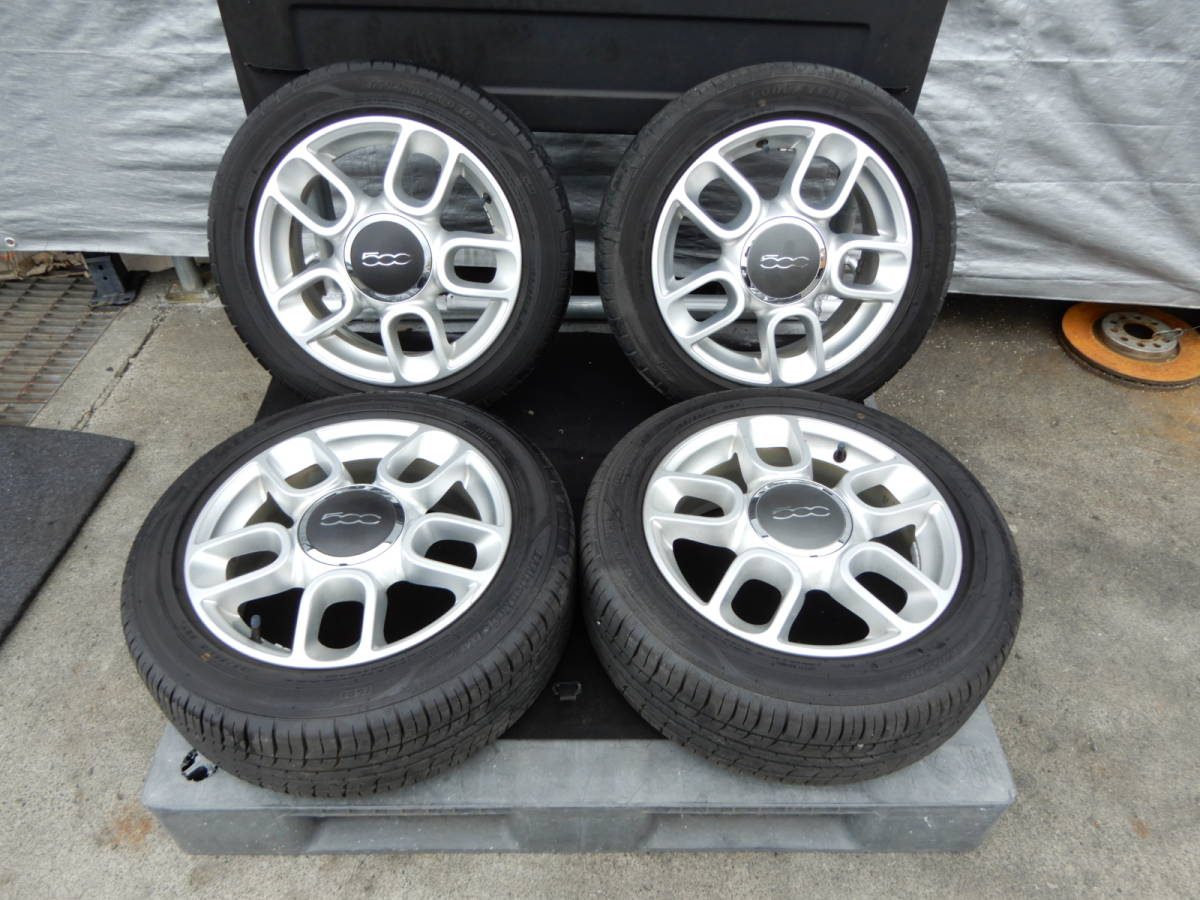 フィアット500 純正 アルミ +タイヤ 4本 中古  f708802