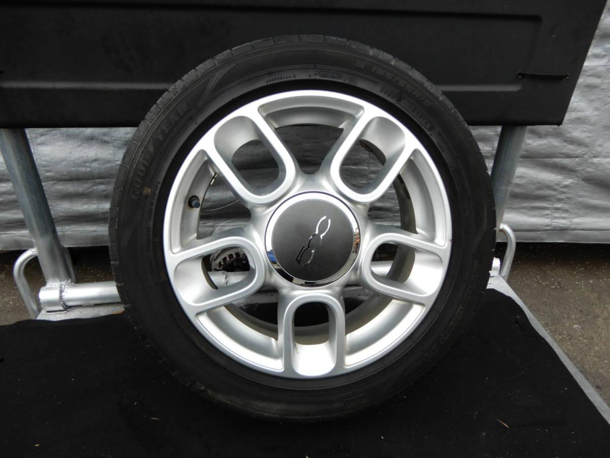 フィアット500 純正 アルミ +タイヤ 4本 中古  f708802_画像2