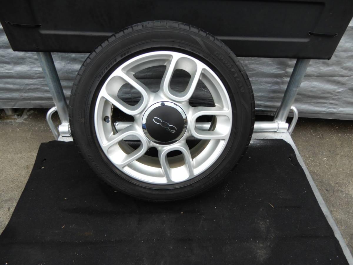 フィアット500 純正 アルミ +タイヤ 4本 中古  f708802_画像4