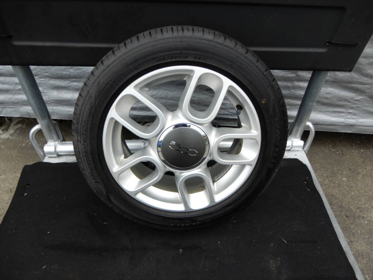 フィアット500 純正 アルミ +タイヤ 4本 中古  f708802_画像5