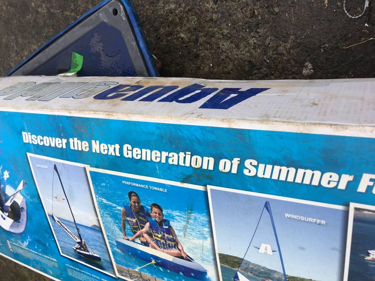 【未使用品】AquaGlide/アクアグライド ボード ヨット カヤック ※訳有 箱の汚れ_画像3